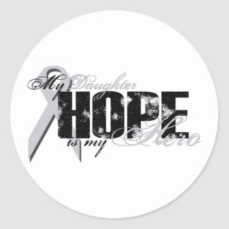 Daughter My Hero - Lung Hope Classic Round Sticker