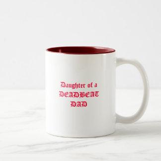 Daughter of a DEADBEAT DAD Two-Tone Coffee Mug