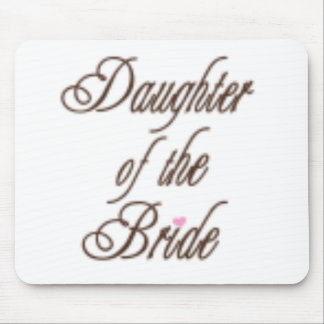 Daughter of Bride Classy Browns Mouse Pad