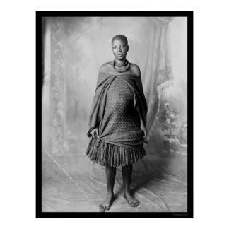 Daughter of Chief Lobengula of the Ndebele 1888 Poster