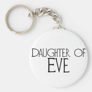 Daughter of Eve Basic Round Button Keychain