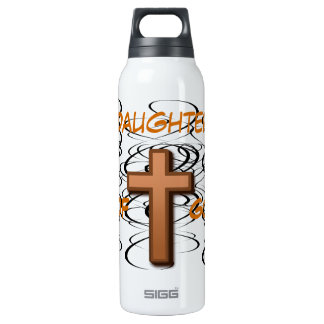 Daughter of God/ Black Swirls with Cross Liberty B Insulated Water Bottle