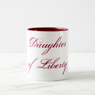 Daughter of Liberty Two-Tone Coffee Mug