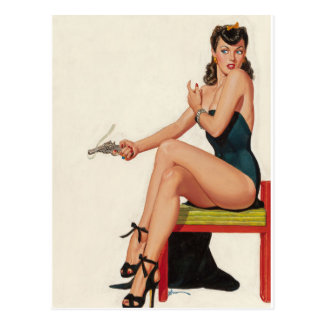 Daughter of Satan 1948 Pin Up Art Postcard