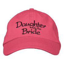 Daughter of the Bride Embroidered Wedding Cap