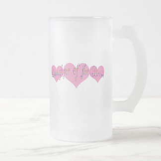 Daughter of the Bride 16 Oz Frosted Glass Beer Mug