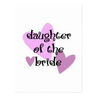 Daughter of the Bride Postcard