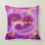 Daughter of the Bride Swirly Heart Pillow