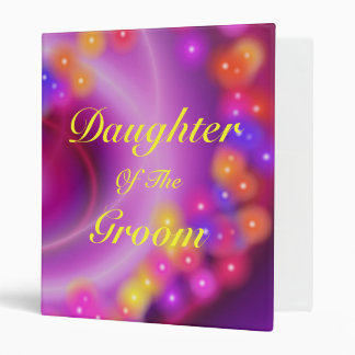 Daughter Of The Groom Swirly Heart Binder