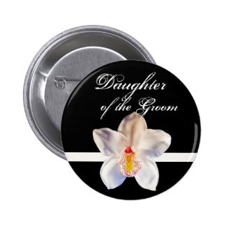 Daughter Of The Groom Wedding ID Badge Pinback Button