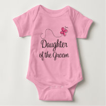 Daughter of The Groom Wedding Party Baby Bodysuit