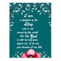 Daughter Of The King Christian Inspirational Postcard
