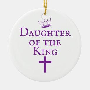 Daughter of the King design Ceramic Ornament