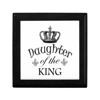 Daughter of the King Quote Jewelry Box