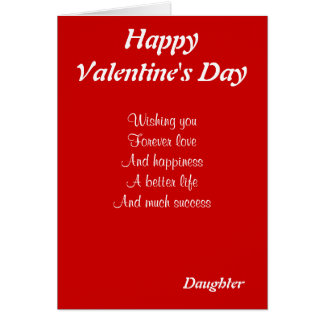 Daughter on valentine's day card