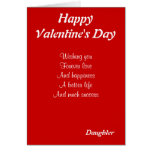 Daughter on valentine's day greeting card