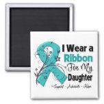 Daughter - Ovarian Cancer Ribbon Fridge Magnets