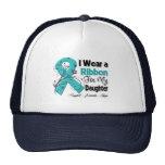 Daughter - Ovarian Cancer Ribbon Mesh Hats