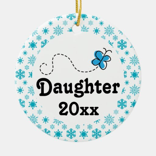 Daughter Personalized Snow Christmas Ornament Zazzle