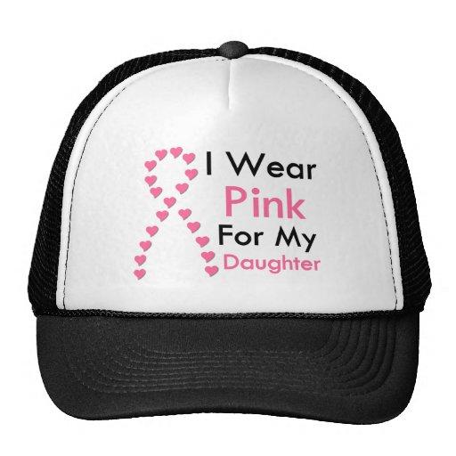 Daughter Pink Ribbon Breast Cancer Mesh Hats