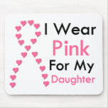 Daughter Pink Ribbon Breast Cancer Mouse Pad