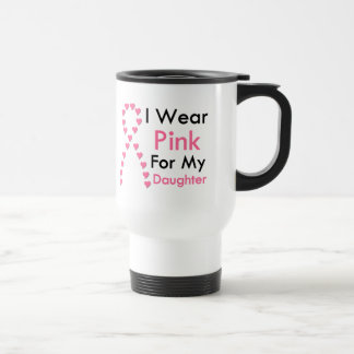 Daughter Pink Ribbon Breast Cancer Travel Mug