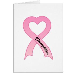 Daughter Pink Ribbon Greeting Card