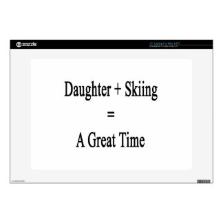 """Daughter Plus Skiing Equals A Great Time. Skin For 15"""" Laptop"""