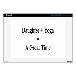 Daughter Plus Yoga Equals A Great Time Laptop Skins