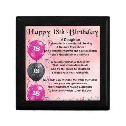 Daughter Poem - 18th Birthday Keepsake Box