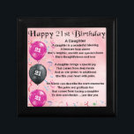 "Daughter Poem 21st Birthday Keepsake Box<br><div class=""desc"">A great gift for a daughter on her 21st birthday</div>"