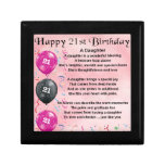 Daughter Poem 21st Birthday Keepsake Box<br><div class='desc'>A great gift for a daughter on her 21st birthday</div>