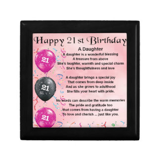 Daughter Poem 21st Birthday Keepsake Box