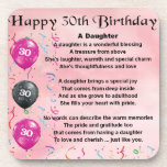 """Daughter Poem  30th Birthday Coaster<br><div class=""""desc"""">A great gift for a daughter on her 30th birthday</div>"""