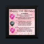 "Daughter Poem  30th Birthday Jewelry Box<br><div class=""desc"">A great gift for a daughter on her 30th birthday</div>"
