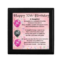 Daughter Poem  30th Birthday Jewelry Box