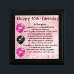 "Daughter Poem  40th Birthday Keepsake Box<br><div class=""desc"">A great gift for daughter on her 40th birthday</div>"