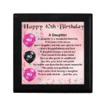 Daughter Poem  40th Birthday Keepsake Box<br><div class='desc'>A great gift for daughter on her 40th birthday</div>