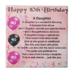 """Daughter Poem  40th Birthday Tile<br><div class=""""desc"""">A great gift for daughter on her 40th birthday</div>"""