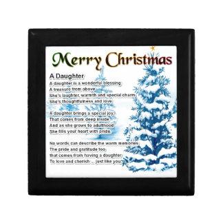 Daughter Poem - Christmas Design Jewelry Box
