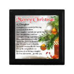 Daughter Poem - Christmas Image Jewelry Boxes