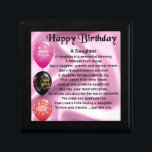 """daughter poem  happy birthday jewelry box<br><div class=""""desc"""">a great gift for a daughter on her birthday</div>"""