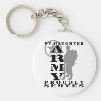 Daughter Proudly Serves - ARMY Keychain