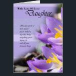 "Daughter purple crocus Birthday Card<br><div class=""desc"">Daughter purple crocus Birthday Card</div>"