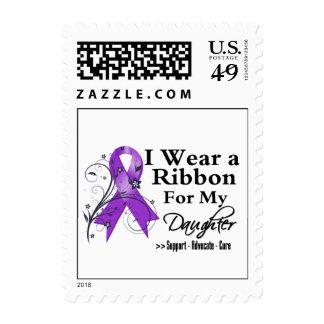 Daughter Purple Ribbon - Pancreatic Cancer Stamp