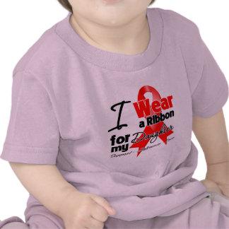 Daughter - Red Ribbon Awareness Tshirt