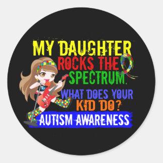 Daughter Rocks The Spectrum Autism Classic Round Sticker