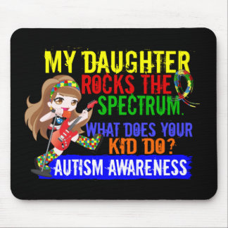 Daughter Rocks The Spectrum Autism Mouse Pad