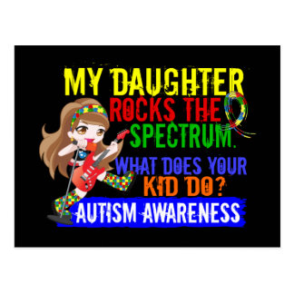 Daughter Rocks The Spectrum Autism Postcard