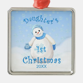 Daughter s 1st Christmas Snowman Ornament